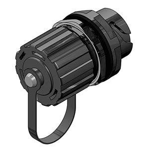 RJ45 inline coupler, socket, plastic CONEC 17-110024