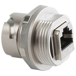 RJ45 inline coupler, socket, plastic CONEC 17-150004