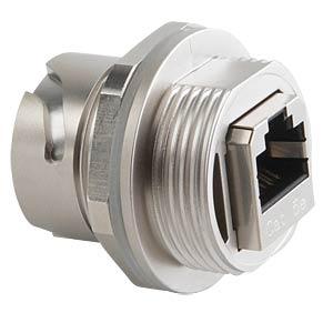 RJ45 inline coupler, socket, die-cast zinc CONEC 17-150174