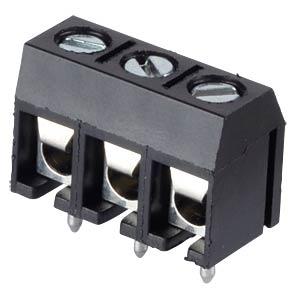 Lötbare Schraubklemme - 3-pol, RM 5 mm, 90° RND CONNECT RND 205-00013