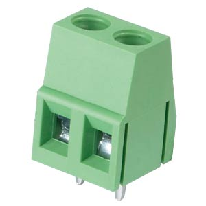 Solderable screw terminal - 2-pole, contact spacing 5 mm, 90° RND CONNECT RND 205-00034