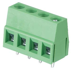 Solderable screw terminal - 4-pole, contact spacing 5 mm, 90° RND CONNECT RND 205-00036