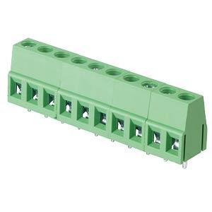 Lötbare Schraubklemme - 10-pol, RM 5 mm, 90° RND CONNECT RND 205-00042