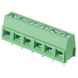 Solderable screw terminal - 6-pole, contact spacing 5 mm, 90° RND CONNECT RND 205-00049