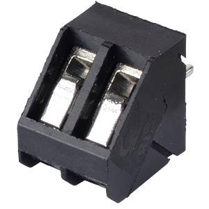 Lötbare Schraubklemme - 2-pol, RM 5 mm, 45° RND CONNECT RND 205-00056