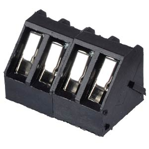 Solderable screw terminal - 4-pole, contact spacing 5 mm, 45° RND CONNECT RND 205-00058