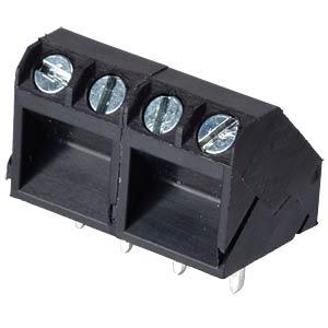 Lötbare Schraubklemme - 4-pol, RM 5 mm, 45° RND CONNECT RND 205-00058