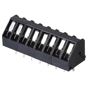 Solderable screw terminal - 8-pole, contact spacing 5 mm, 45° RND CONNECT RND 205-00062
