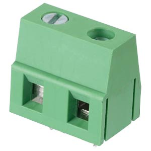 Solderable screw terminal - 2-pole, contact spacing 7,5 mm, 90° RND CONNECT RND 205-00067