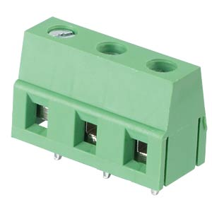 Solderable screw terminal - 3-pole, contact spacing 7,5 mm, 90° RND CONNECT RND 205-00068
