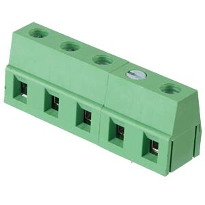 Solderable screw terminal - 5-pole, contact spacing 7,5 mm, 90° RND CONNECT RND 205-00070