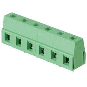 Solderable screw terminal - 6-pole, contact spacing 7,5 mm, 90° RND CONNECT RND 205-00071