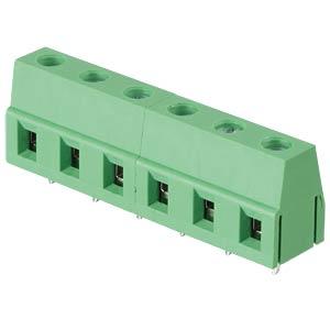Lötbare Schraubklemme - 6-pol, RM 7,5 mm, 90° RND CONNECT RND 205-00071