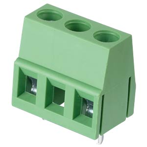 Solderable screw terminal - 2-pole, contact spacing 10 mm, 90° RND CONNECT RND 205-00078