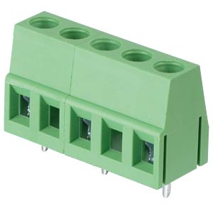 Solderable screw terminal - 3-pole, contact spacing 10 mm, 90° RND CONNECT RND 205-00079