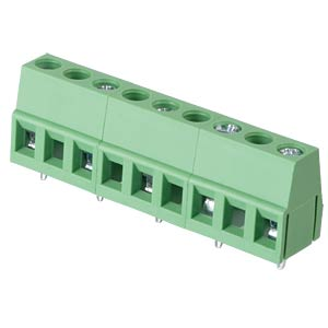 Solderable screw terminal - 5-pole, contact spacing 10 mm, 90° RND CONNECT RND 205-00081