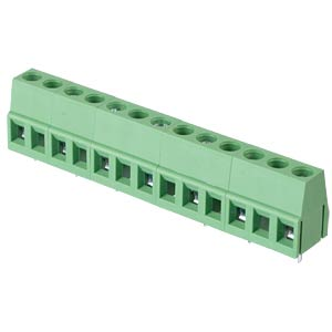 Solderable screw terminal - 7-pole, contact spacing 10 mm, 90° RND CONNECT RND 205-00083