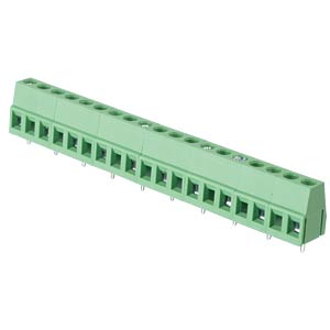 Solderable screw terminal - 10-pole, contact spacing 10 mm, 90° RND CONNECT RND 205-00086