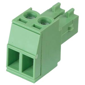 Pluggable screw terminal - 2-pole, contact spacing 3,5 mm, 0° RND CONNECT RND 205-00089