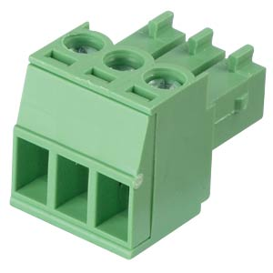 Pluggable screw terminal - 3-pole, contact spacing 3,5 mm, 0° RND CONNECT RND 205-00090