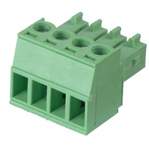Pluggable screw terminal - 4-pole, contact spacing 3,5 mm, 0° RND CONNECT RND 205-00091