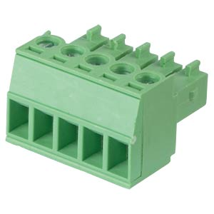 Pluggable screw terminal - 5-pole, contact spacing 3,5 mm, 0° RND CONNECT RND 205-00092