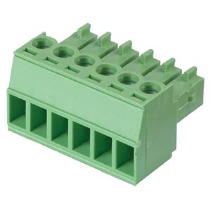 Pluggable screw terminal - 6-pole, contact spacing 3,5 mm, 0° RND CONNECT RND 205-00093
