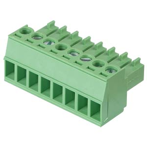 Pluggable screw terminal - 8-pole, contact spacing 3,5 mm, 0° RND CONNECT RND 205-00095