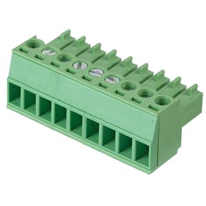 Pluggable screw terminal - 9-pole, contact spacing 3,5 mm, 0° RND CONNECT RND 205-00096