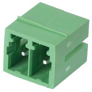 Pin header - 2-pole, contact spacing 3,5 mm, 0° RND CONNECT RND 205-00100