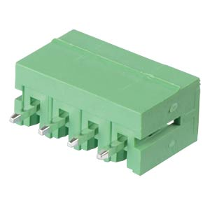 Pin header - 4-pole, contact spacing 3,5 mm, 0° RND CONNECT RND 205-00102