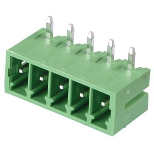 Pin header - 5-pole, contact spacing 3,5 mm, 90° RND CONNECT RND 205-00114