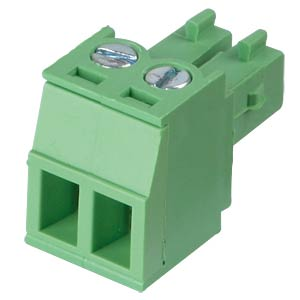 Pluggable screw terminal - 2-pole, contact spacing 3,81 mm, 0° RND CONNECT RND 205-00122