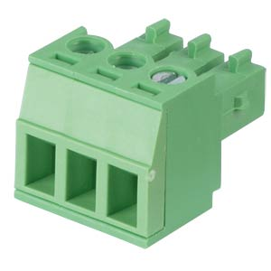 Pluggable screw terminal - 3-pole, contact spacing 3,81 mm, 0° RND CONNECT RND 205-00123