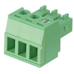 Steckbare Schraubklemme - 3-pol, RM 3,81 mm, 0° RND CONNECT RND 205-00123