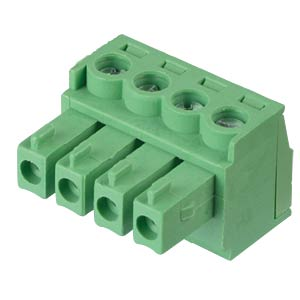Pluggable screw terminal - 4-pole, contact spacing 3,81 mm, 0° RND CONNECT RND 205-00124