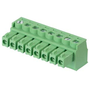 Pluggable screw terminal - 8-pole, contact spacing 3,81 mm, 0° RND CONNECT RND 205-00128