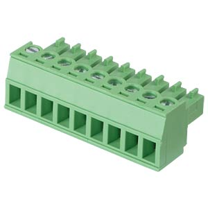 Pluggable screw terminal - 9-pole, contact spacing 3,81 mm, 0° RND CONNECT RND 205-00129