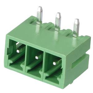 Stiftleiste - 3-pol, RM 3,81 mm, 90° RND CONNECT RND 205-00145
