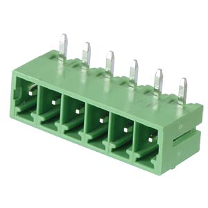 Pin header - 6-pole, contact spacing 3,81 mm, 90° RND CONNECT RND 205-00148