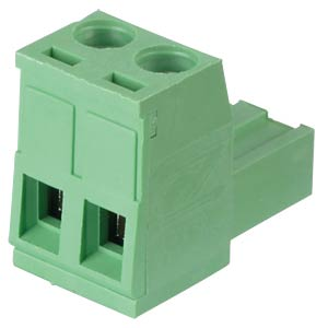 Pluggable screw terminal - 2-pole, contact spacing 5 mm, 0° RND CONNECT RND 205-00155
