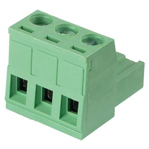 Pluggable screw terminal - 3-pole, contact spacing 5 mm, 0° RND CONNECT RND 205-00156