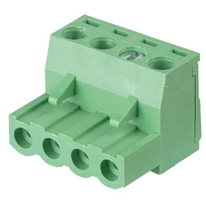 Pluggable screw terminal - 4-pole, contact spacing 5 mm, 0° RND CONNECT RND 205-00157