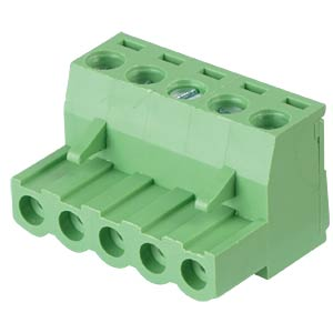 Pluggable screw terminal - 5-pole, contact spacing 5 mm, 0° RND CONNECT RND 205-00158