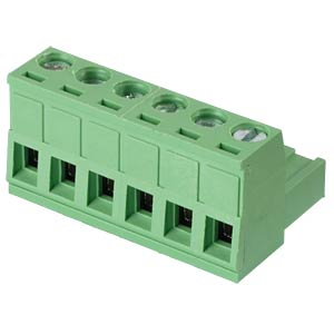 Pluggable screw terminal - 6-pole, contact spacing 5 mm, 0° RND CONNECT RND 205-00159