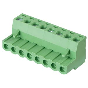 Pluggable screw terminal - 8-pole, contact spacing 5 mm, 0° RND CONNECT RND 205-00161