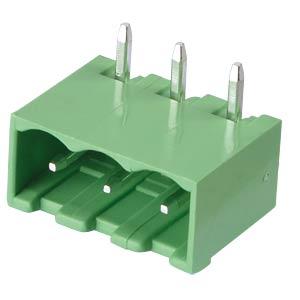 Pin header - 3-pole, contact spacing 5 mm, 90° RND CONNECT RND 205-00167