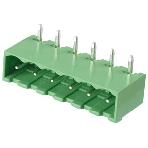 Pin header - 6-pole, contact spacing 5 mm, 90° RND CONNECT RND 205-00170