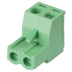 Steckbare Schraubklemme - 2-pol, RM 5,08 mm, 0° RND CONNECT RND 205-00177