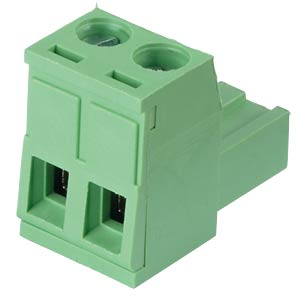 Pluggable screw terminal - 2-pole, contact spacing 5,08 mm, 0° RND CONNECT RND 205-00177